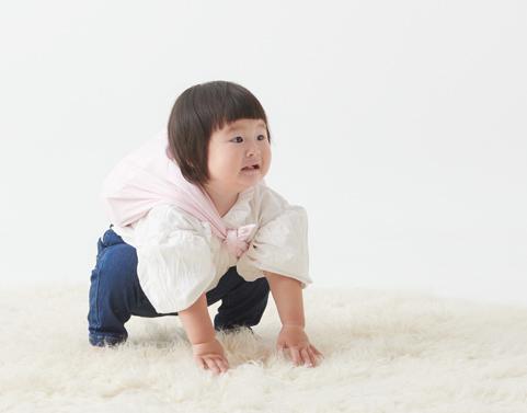 一生米を背負う子供一歳のお祝いに